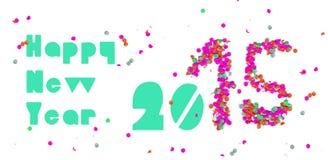 Guten Rutsch ins Neue Jahr-Parteifahne 2015 Lizenzfreie Stockfotos