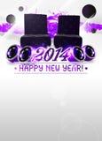 2014-guten Rutsch ins Neue Jahr-Parteihintergrund Lizenzfreie Stockbilder