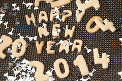 Guten Rutsch ins Neue Jahr-Plätzchen 2014 Lizenzfreies Stockfoto
