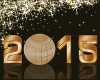 2015-guten Rutsch ins Neue Jahr-Postkarte Lizenzfreie Stockbilder