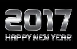 Guten Rutsch ins Neue Jahr 2017 - rechteckige abgeschrägte Metallbuchstaben Stockfoto