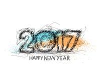 Guten Rutsch ins Neue Jahr-Schmutz-Text-Design 2017 Stockfotos