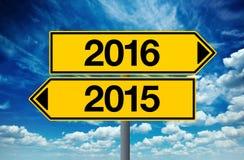 2016, guten Rutsch ins Neue Jahr-Straßenschild-Konzept Lizenzfreies Stockbild