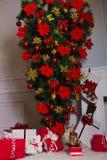 Guten Rutsch ins Neue Jahr, Tapeten des neuen Jahres, Weihnachten Stockfotos