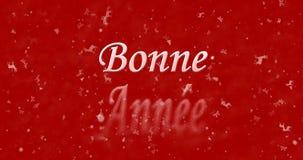 Guten Rutsch ins Neue Jahr-Text auf französisch Stockbilder