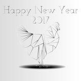 Guten Rutsch ins Neue Jahr-Tierkreis-Huhn 2017 Lizenzfreie Stockfotos