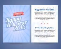 Guten Rutsch ins Neue Jahr 2016 und Flieger 2016 der frohen Weihnachten Lizenzfreies Stockbild