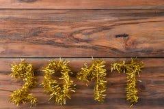 Guten Rutsch ins Neue Jahr und frohe Weihnachten 2017 Lizenzfreie Stockbilder
