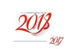 Guten Rutsch ins Neue Jahr 2017 und 2018 Text-Design Lizenzfreie Stockbilder
