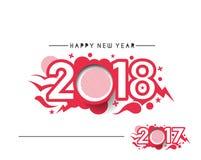 Guten Rutsch ins Neue Jahr 2017 und 2018 Text-Design Lizenzfreie Stockfotografie