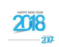 Guten Rutsch ins Neue Jahr 2017 und 2018 Text-Design Stockfotos
