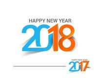 Guten Rutsch ins Neue Jahr 2017 und 2018 Text-Design Lizenzfreies Stockfoto