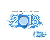 Guten Rutsch ins Neue Jahr 2017 und 2018 Text-Design lizenzfreie abbildung