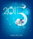 Guten Rutsch ins Neue Jahr 2015 Ursprüngliche Weihnachtskarte lizenzfreie abbildung