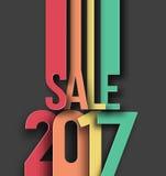 Guten Rutsch ins Neue Jahr-Verkaufs-Text-Design 2017 Lizenzfreie Stockfotografie