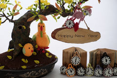 Guten Rutsch ins Neue Jahr, Vietnam-tet Hintergrund Stockfotos