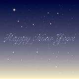 Guten Rutsch ins Neue Jahr von den Sternen Stockbild
