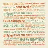 Guten Rutsch ins Neue Jahr von der Welt Lizenzfreies Stockbild