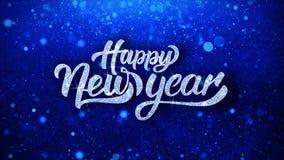 Guten Rutsch ins Neue Jahr wünscht Partikel-Grüße, Einladung, Feier-Hintergrund stock video