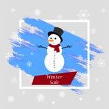Guten Rutsch ins Neue Jahr 2018 Weihnachtsmann _2 Text auf Winter Background Auch im corel abgehobenen Betrag Lizenzfreie Abbildung