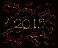 Guten Rutsch ins Neue Jahr - Wunderkerze 2015 Stockbilder