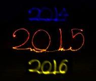 Guten Rutsch ins Neue Jahr - Wunderkerze 2015 Stockbild