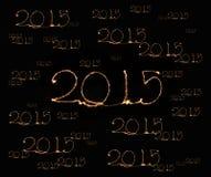 Guten Rutsch ins Neue Jahr - Wunderkerze 2015 Stockfotos