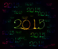 Guten Rutsch ins Neue Jahr - Wunderkerze 2015 Lizenzfreies Stockfoto