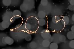 Guten Rutsch ins Neue Jahr - Wunderkerze 2015 Lizenzfreies Stockbild
