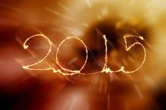 Guten Rutsch ins Neue Jahr - Wunderkerze 2015 Lizenzfreie Stockbilder
