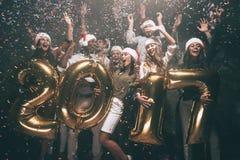 Guten Rutsch ins Neue Jahr zu Ihnen! stockfoto
