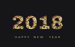 Guten Rutsch ins Neue Jahr, Zusammenfassungsdesign 3d, 2018 vector Illustration Stockbild