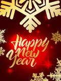 Guten Rutsch ins Neue Jahrbeschriftung Hand schriftliches guten Rutsch ins Neue Jahr-Plakat MO Lizenzfreies Stockfoto