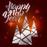 Guten Rutsch ins Neue Jahrbeschriftung Hand schriftliches guten Rutsch ins Neue Jahr-Plakat MO Stockbild