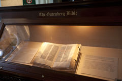 The Gutenberg Bible royalty free stock photo