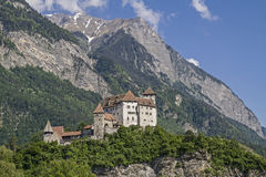 Gutenberg Castle in Balzers Stock Photos