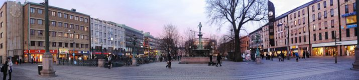 Gutenberg-Marktplatz Lizenzfreies Stockfoto