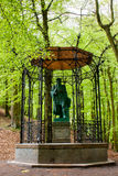 Gutenberg. Old statue of Gutenberg in the forest gazebo Wrzeszcz Gdansk Poland Stock Images