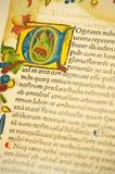 gutenburg детали библии Стоковая Фотография