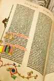 Gutenburg Bible Stock Image