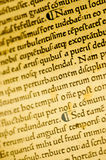 Gutenburg Bible detail. A page from a Gutenburg Bible Stock Photography