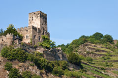 Gutenfels Castle in Germany. On the Rhine stock image