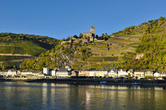 Gutenfels castle in Germany royalty free stock photos