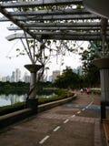 Gutenmorgen Bangkok, Stadtansicht vom Park Lizenzfreie Stockfotos
