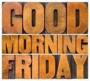 Gutenmorgen Freitag Lizenzfreies Stockfoto