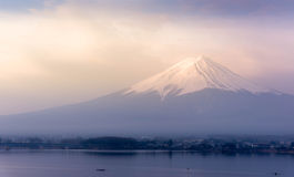 Gutenmorgen Fujisan Lizenzfreie Stockbilder