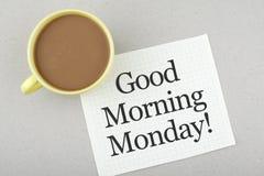 Gutenmorgen-Montag-Anmerkung Lizenzfreies Stockfoto