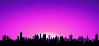 Gutenmorgen-Stadt! Stockbild
