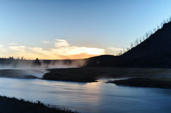 Gutenmorgen Yellowstone lizenzfreies stockfoto