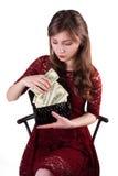 Guter Angestellter empfing ein Gehalt Lizenzfreie Stockfotos